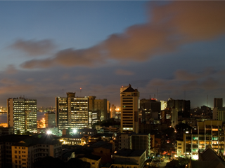 The Lagos Skyline By Way of 'a whitespace'