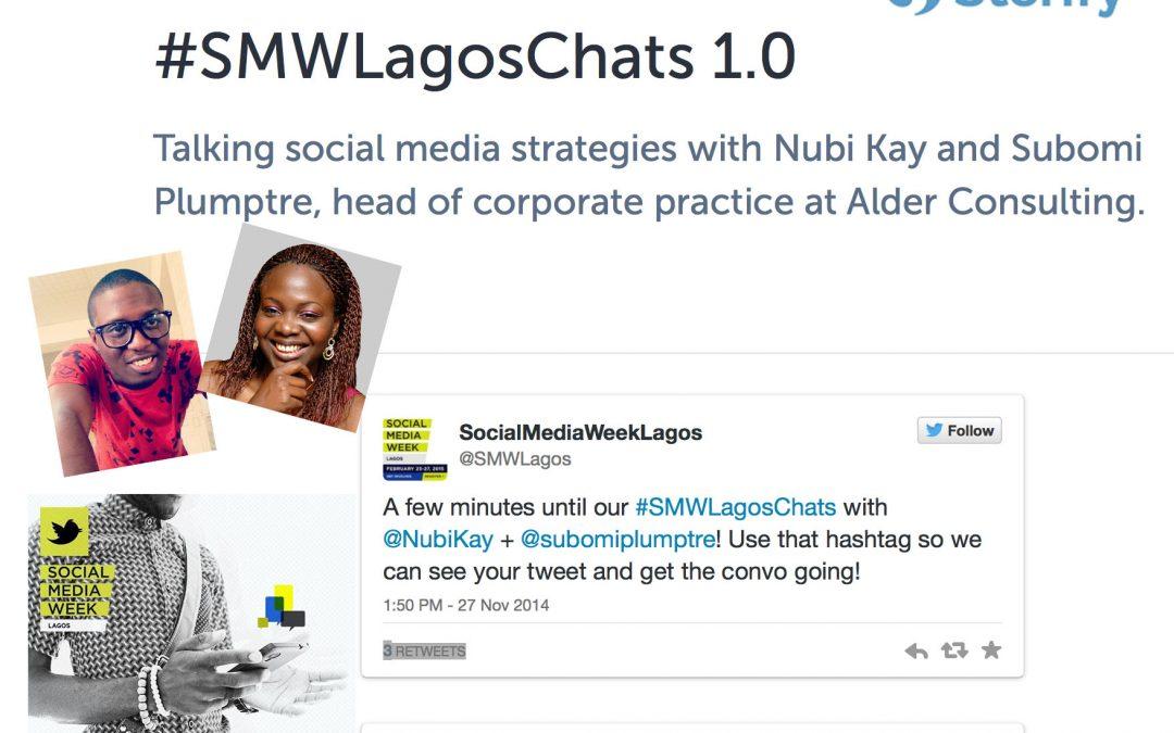 #SMWLagosChats 1.0 – Storify